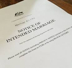 Image of Notice of Intended Marriage (NOIM) form
